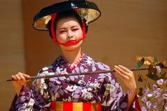 Bailarín tradicional de Tomofujikai del japonés Imagen de archivo