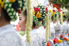 Bailarín tradicional del Javanese foto de archivo