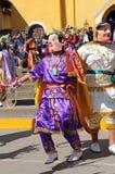 Bailarín tradicional en Cajabamba, Perú del folklore Imagen de archivo