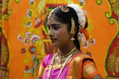 Bailarín tradicional, la India del sur Fotografía de archivo libre de regalías