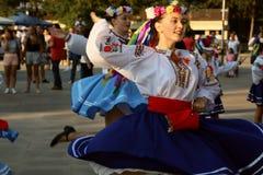 Bailarín ucraniano en traje tradicional Fotografía de archivo