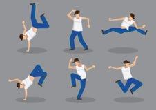 Bailarín Vector Icon Set de Hip Hop stock de ilustración