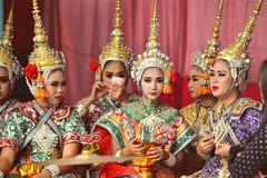 Bailarín Women de Tailandia Imagen de archivo