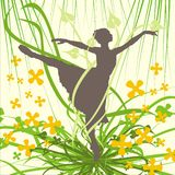 Bailarina ilustração stock