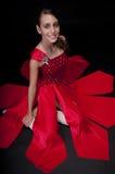 Bailarina asentada Imagenes de archivo