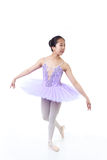 Bailarina asiática joven con los apoyos en actitud de la danza Fotografía de archivo libre de regalías