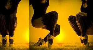 Bailarina atractiva Fotos de archivo libres de regalías