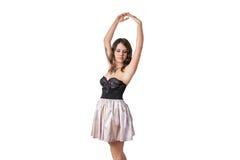 Bailarina atractiva en una presentación del corsé Imagen de archivo libre de regalías