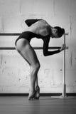 Bailarina bonita nova que levanta no estúdio Fotos de Stock Royalty Free