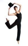 Bailarina com chapéu superior Foto de Stock Royalty Free
