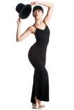Bailarina con el sombrero superior Imagen de archivo libre de regalías