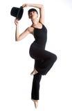 Bailarina con el sombrero superior Imágenes de archivo libres de regalías