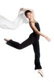 Bailarina con la bufanda Fotos de archivo