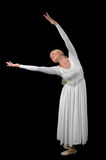 Bailarina con los brazos extendidos Foto de archivo