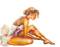 Bailarina de assento bonita Imagens de Stock Royalty Free