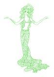 Bailarina de la danza del vientre ilustración del vector