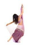 Bailarina de la danza del vientre delgada fotos de archivo libres de regalías