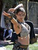 Bailarina de la danza del vientre exótica Imagen de archivo libre de regalías