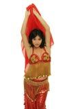 Bailarina de la danza del vientre hermosa Foto de archivo libre de regalías