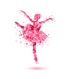 Bailarina de pétalos color de rosa rosados libre illustration