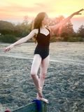Bailarina del adolescente en rancho Imágenes de archivo libres de regalías
