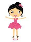 Bailarina del baile en actitud básica stock de ilustración