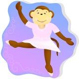 Bailarina del mono ilustración del vector