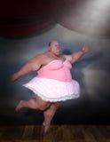 Bailarina divertida, danza del ballet, bailarín Imagen de archivo libre de regalías