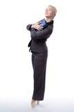 Bailarina do negócio com dobrador Fotografia de Stock Royalty Free