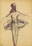 Bailarina, drenando 14 Imagenes de archivo