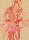 Bailarina, drenando 2 Fotografía de archivo libre de regalías