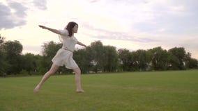 Bailarina elegante do salto de Japão vídeos de arquivo