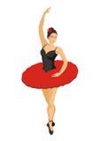 Bailarina em um tutu vermelho Imagens de Stock