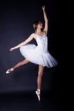Bailarina en el tutú blanco Fotografía de archivo