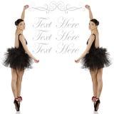 Bailarina en negro con el copyspace Imágenes de archivo libres de regalías