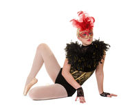 Bailarina en traje de teatro Fotos de archivo