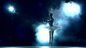 Bailarina: entrenamiento en la sala de clase, cámara lenta metrajes