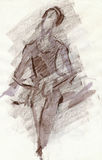 Bailarina, gráfico marrón libre illustration