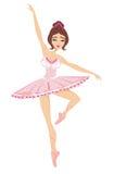 Bailarina hermosa del baile aislada en los vagos blancos libre illustration