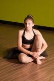 Bailarina joven en el estudio Foto de archivo libre de regalías