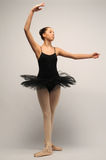Bailarina joven en tutú negro Fotografía de archivo
