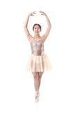 Bailarina joven que ejecuta un movimiento de Pointe del ballet Fotografía de archivo libre de regalías