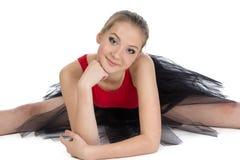 Bailarina joven que mira la cámara Imagen de archivo