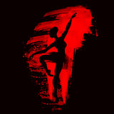 Bailarina na dança watercolor Fotografia de Stock Royalty Free