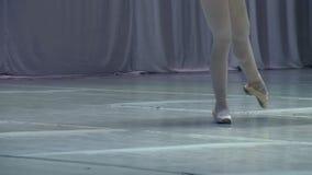 Bailarina na fase video estoque