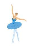 Bailarina no tutu azul Fotografia de Stock