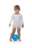 Bailarina pequena com a bola Fotografia de Stock