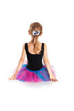 Bailarina pequena no tutu em um fundo branco do estúdio Imagem de Stock