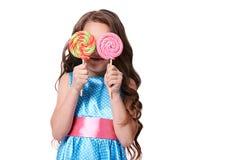 Bailarina pequena Pirulitos coloridos Doçura deliciosa Imagens de Stock