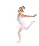 Bailarina pocos niños del ballet que bailan en blanco Fotografía de archivo